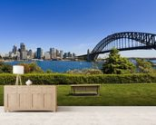 Sydney from Milson's Point mural wallpaper living room preview