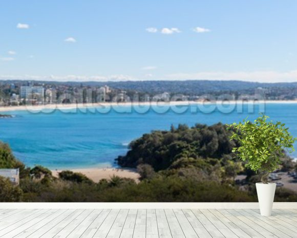 Manly Beach, Sydney, Australia - Panoramic wall mural room setting
