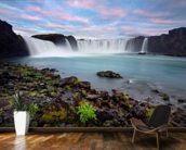 Waterfall of The Gods, Iceland wallpaper mural kitchen preview
