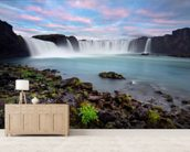 Waterfall of The Gods, Iceland wallpaper mural living room preview