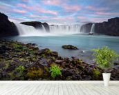 Waterfall of The Gods, Iceland wallpaper mural in-room view