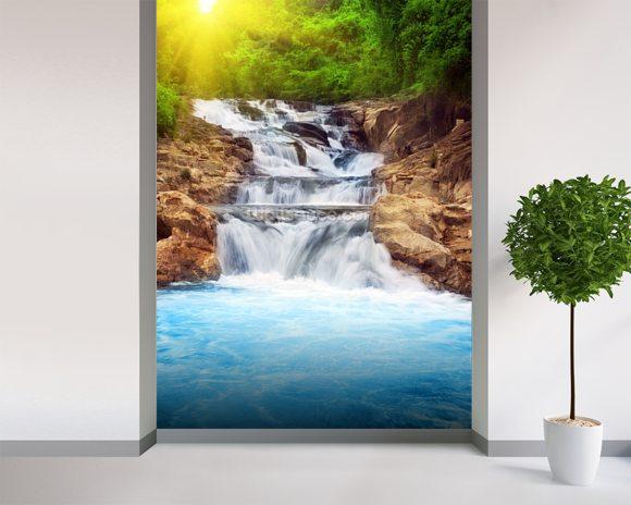 Beautiful Vibrant Waterfall Wallpaper Wall Mural