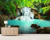 Huay Mae Kamin Waterfall, Thailand mural wallpaper living room preview