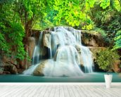 Huay Mae Kamin Waterfall, Thailand mural wallpaper in-room view