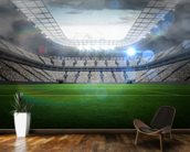 Large football stadium with lights wallpaper mural kitchen preview