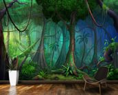 Rainforest mural wallpaper kitchen preview