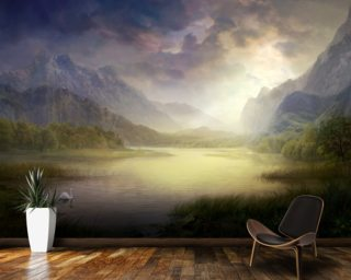 Silent Morning wall mural
