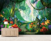 Hidden Treasure mural wallpaper living room preview