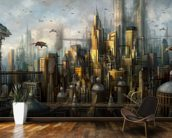 Metropolis wall mural kitchen preview