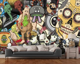 Twisted Pixels Montage Wallpaper Wall Murals