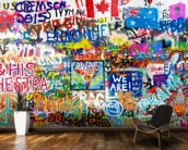 Graffiti Panorama mural wallpaper kitchen preview