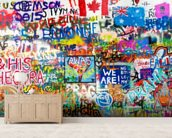 Graffiti Panorama mural wallpaper living room preview