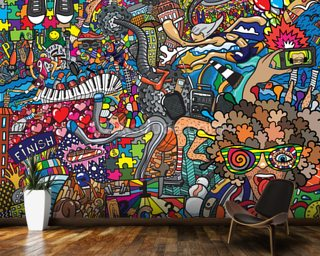 Sports - Graffiti & Graffiti Wallpaper u0026 Wall Murals | Wallsauce USA