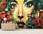 Graffiti - Beauty mural wallpaper living room preview