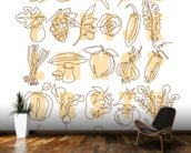 Apple to Zucchini wallpaper mural kitchen preview