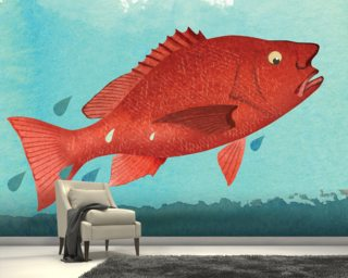 Fish Fear Wall Murals Wallpaper