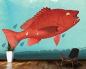 Fish Fear wallpaper mural kitchen preview
