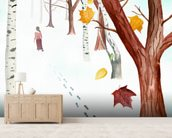 Power of forgetting mural wallpaper living room preview