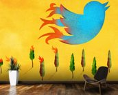Tweet wallpaper mural kitchen preview