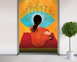 Outside looking in Wall Murals Wallpaper