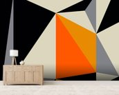 Angles 3 mural wallpaper living room preview