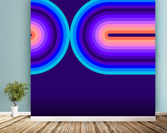 Cool Flow 3 wall mural room setting