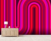 Hot Flow 1 wallpaper mural living room preview