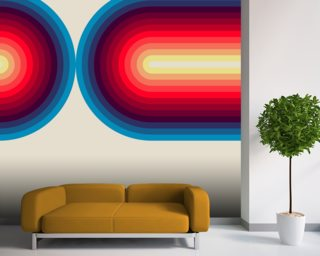 Light Flow 3 wall mural
