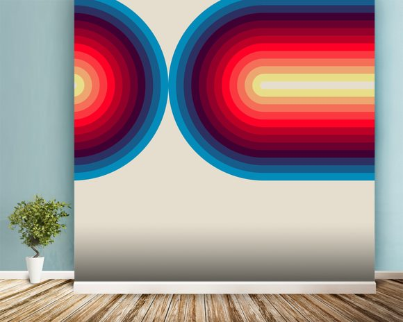 Light Flow 3 wall mural room setting