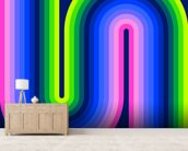 Neon Flow 1 wallpaper mural living room preview