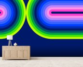 Neon Flow 3 wall mural living room preview