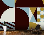 Geo mural wallpaper kitchen preview
