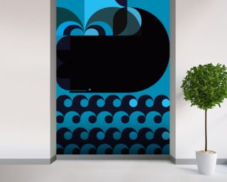 Grand Chacalot Blue wall mural