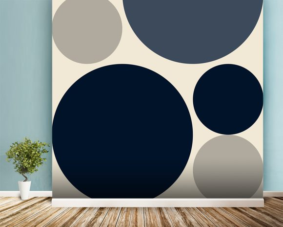 Mono Discs wall mural room setting