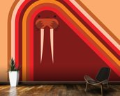 Walrus wallpaper mural kitchen preview