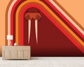 Walrus wallpaper mural living room preview