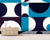 Radia Light mural wallpaper living room preview