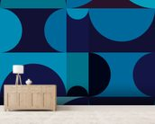 Radia Dark wall mural living room preview