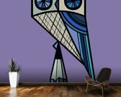 Stay Sharp Purple mural wallpaper kitchen preview
