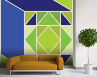 Structure Green wall mural