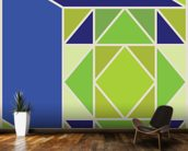 Structure Green wall mural kitchen preview