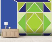 Structure Green wall mural living room preview