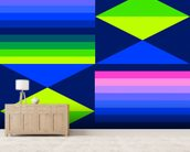 Structure Neon 2 wallpaper mural living room preview