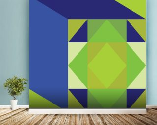 Structure Green 2 mural wallpaper