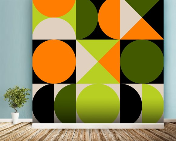 Tic Tac Toe wall mural room setting