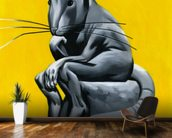 Think Rat mural wallpaper kitchen preview