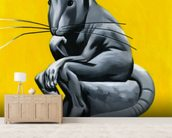 Think Rat mural wallpaper living room preview