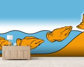 Creationism mural wallpaper living room preview