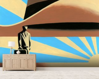 Sunset Hat Mural Wallpaper Wallpaper Wall Murals