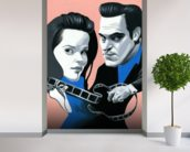 Walk the Line wallpaper mural in-room view